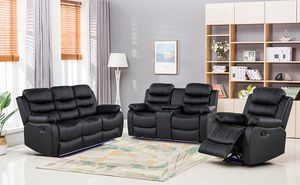 Brandon new leather sofa love seat recliners on sale $899 we deliver visit us! for Sale in Queens, NY
