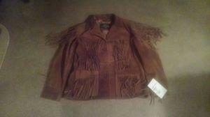 Leather Gallery Ladies cowhide fringe jacket for Sale in Philadelphia, PA