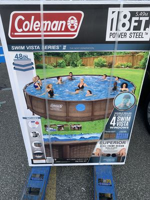 Coleman Vista 15020 18x48 in. Steel Frame Above Ground Swimming Pool for Sale in Airmont, NY