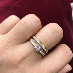 18k Gold Plated Ring Band Wedding Engagement Jewelry Size Si3 6,7,8,10 Available for Sale in Burtonsville,  MD