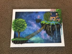 Floating island acrylic painting for Sale in Jefferson City, MO