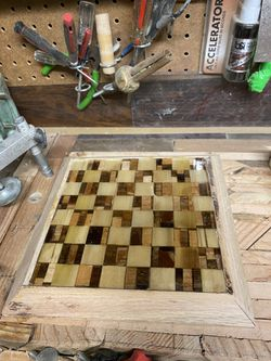 Handmade Wood And Resin Chess Board for Sale in Sandy,  OR