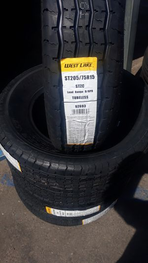 St205 75 r15 trailer tires 4new$200 for Sale in Lake Elsinore, CA