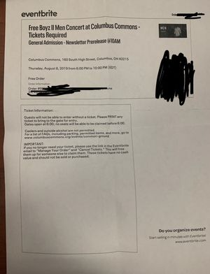 Boyz 2 Men Concert, August 8th, 2019 for Sale in Columbus, OH