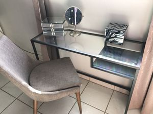 IKEA black glass desk or vanity desk for Sale in National City, CA