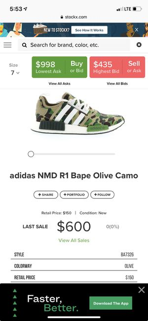 Bape x Adidas NMD R1 sz 7 mens for Sale in San Francisco, CA