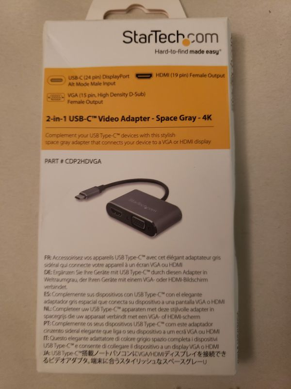 USB-C to VGA and HDMI Video Adapter 2-in-1 Windows & Mac Compatible