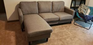 Cazenovia Reversible Gray Sectional Couch for Sale in Charlotte, NC