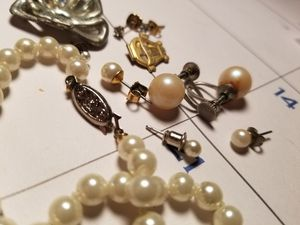 Vintage Diamond, and pearl jewelry lot, pin, broach for Sale in Akron, OH