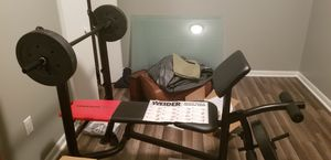 Weider weight bench with weights for Sale in Bluff City, TN