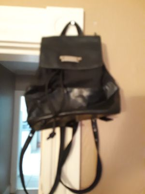 Leather liz Claiborne black leather backpack for Sale in Southbridge, MA