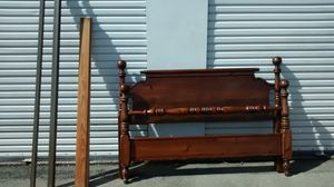 Vintage Queen Wood Bed Frame And Rails for Sale in Grants Pass, OR