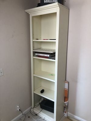 2 tall white Bookcase 82 H, 24 W, 12 1/2 deep for Sale in Spring Valley, CA