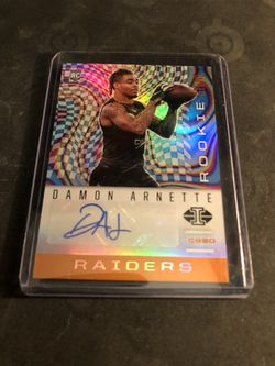 2020 Panini Illusions Damon Arnette RC Autographed Orange Parallel for Sale in San Angelo,  TX