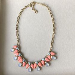 J CREW Statement Necklace Mixed Stones Cluster Blue Green Pink Gold Tone for Sale in Manassas,  VA