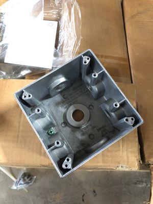 DTB-5-7x gray deep 2 gang weatherproof box for Sale in Boyceville, WI