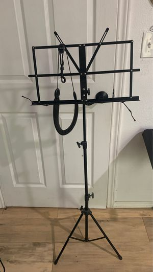 Music stand (and saxophone neck strap) for Sale in Waxahachie, TX