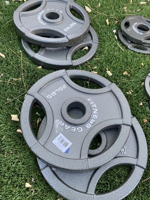 25 lb olympic cast plates (brand new!) for Sale in San Jose, CA