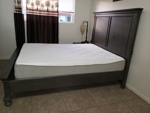 Brand new queen bed frame with usb connection + mattress + box spring for Sale in Fremont, CA