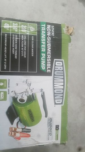 Drummond transfer pump for Sale in West Palm Beach, FL