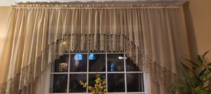 Curtains chiffon and lace for Sale in Clifton, NJ
