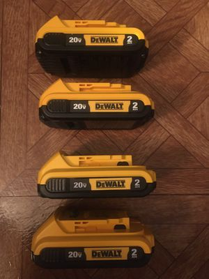 DeWalt. 20V MAX XR Lithium Ion 4-Piece 2.0Ah Battery Pack. DCB203. for Sale in Brooklyn, NY