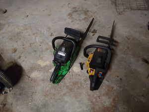 Chainsaws and riding lawn mower for Sale in Elma, WA