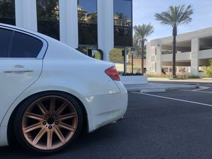 Bmw style 95 rims 5x114.3 staggered set up trade only for Sale in Fullerton, CA