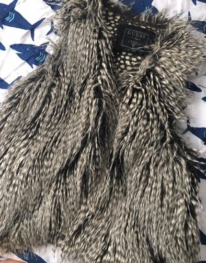 Women's Clothes Vest Guess Fake Fur for Sale in Edgewood, WA