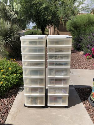 Plastic drawers on wheels for Sale in Mesa, AZ