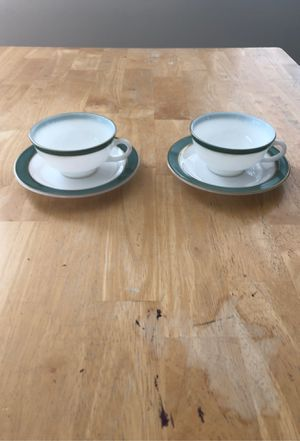 Vintage Pyrex with turquoise color cup & saucer for Sale in West Springfield, VA