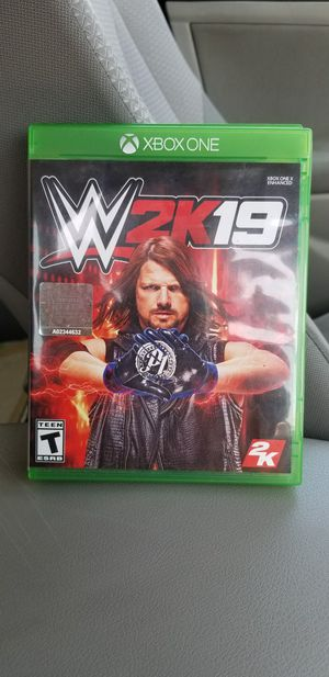 WWE 2K 19 - XBOX ONE, PRICE FIRM, TRADE FOR REDEMPTION II OR MK 11 ONLY for Sale in Garden Grove, CA