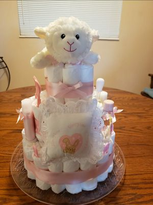 Baby Girl Diaper Cake for Sale in Fort Lauderdale, FL