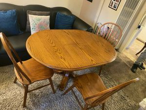 Beautiful antique table with 3 chairs . Great condition ask about delivery for Sale in Tustin, CA