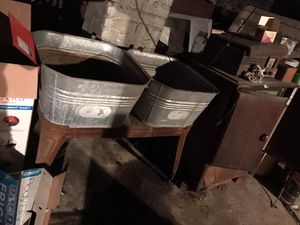 Galvanized double washtubs for Sale in North Tazewell, VA
