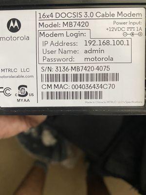 Motorola modem docsis 3.0 for Sale in Henderson, NV