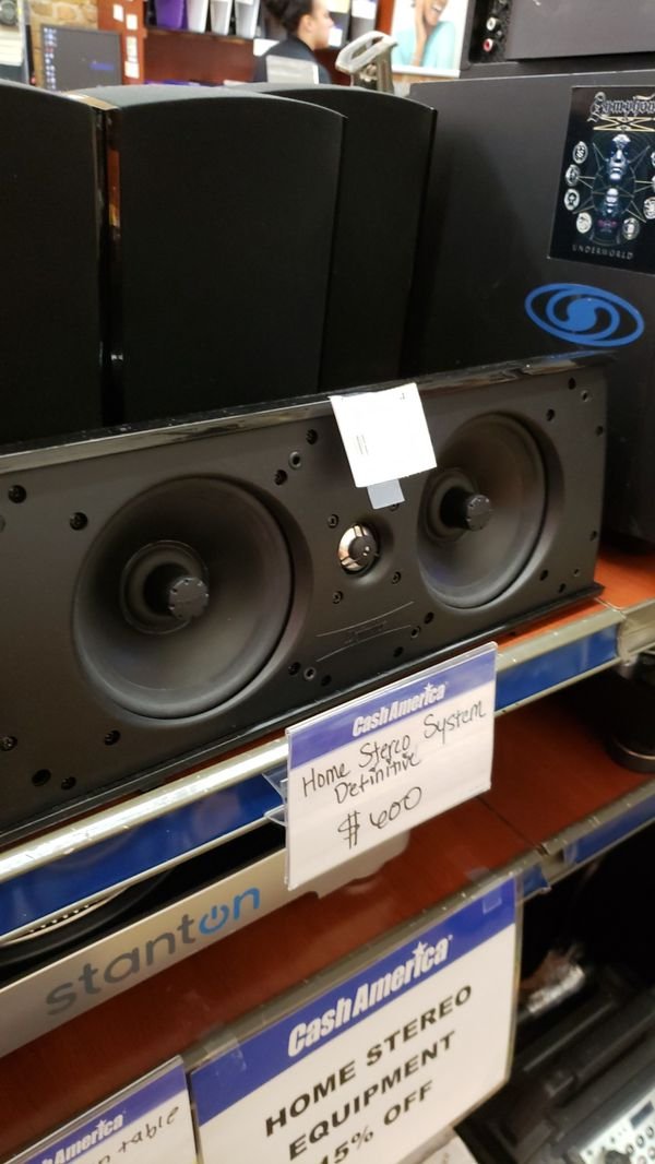 Definitive Home Stereo system