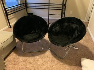Set of two foldable chairs (will accommodate adults) for Sale in Cypress, TX