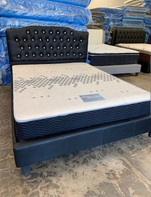 Brand New Full Size Leather Platform Bed Frame ONLY for Sale in Silver Spring, MD