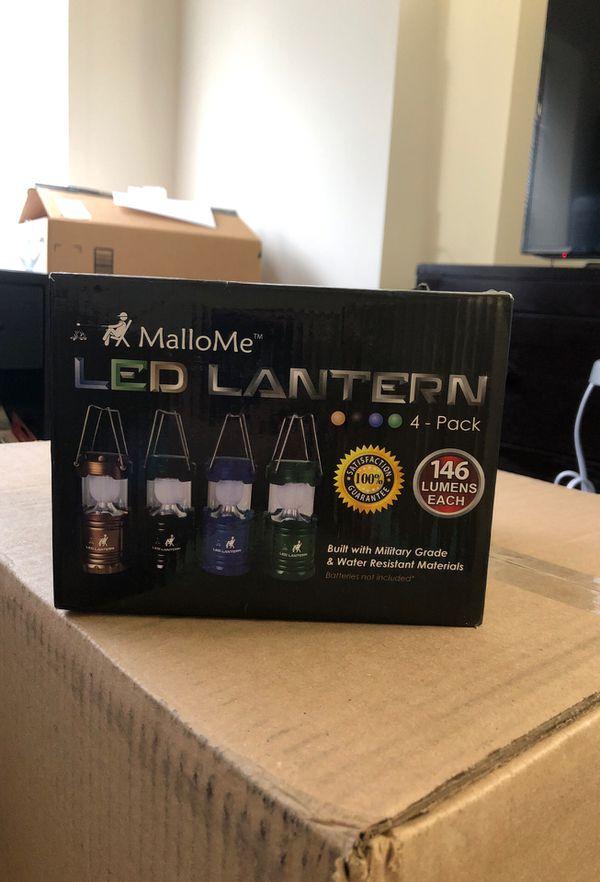 4 New LED Lanterns