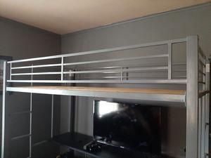 Steel Bunkbed with metal shelves half beneath for Sale in Winchester, VA