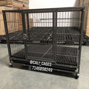 "Dog Pet Cage Kennel Size 37"" Medium With Plastic Floor Grid Tray And Wheels New In Box 📦 for Sale in Ontario, CA"