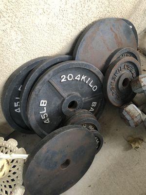 Weights 4x45 2x35 2x10 4x5 for Sale in Murrieta, CA