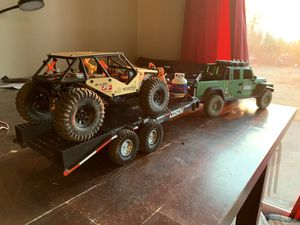 Gladiator rc car with gooseneck trailer and rc buggy. for Sale in Hillsboro, OR