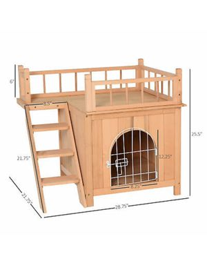 Wooden Pet House Dog Cat Puppy Room Bed Platform Bed Shelter Indoor Outdoor for Sale in Plymouth, MA