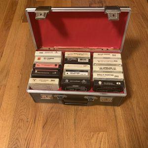 15 Vintage 8 Tracks with Black Buckle Case for Sale in Golden, CO