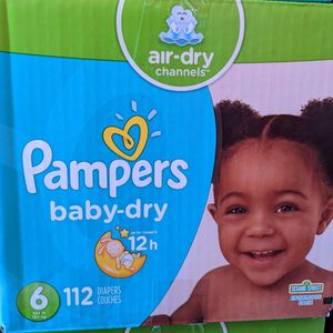 Pampers Baby Dry Size 6 for Sale in Lakewood, CA