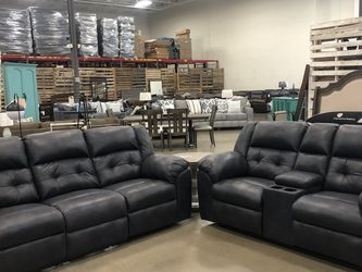 manuel recliner set retail price $2436 now for only $1798 take it home with only $40 down payment for Sale in Nashville,  TN