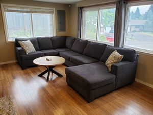 Microfiber Sectional Couch with Chaise Lounge for Sale in Seattle, WA