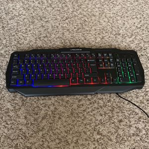 Wired Gaming Keyboard Rainbow Backlight for Sale in Fort Lauderdale, FL